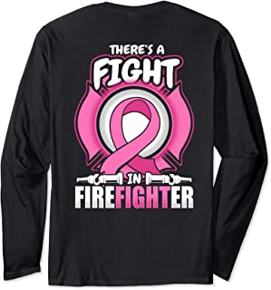 Fight Breast Cancer Firefighter for Cure Awareness Long Sleeve T-Shirt