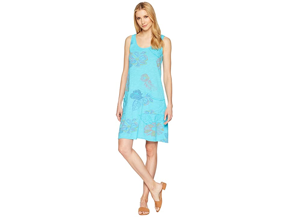 Fresh Produce Summer Floral Drape Dress (Luna Turquoise) Women