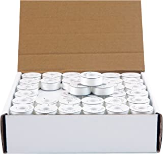 Threadart Prewound Embroidery Bobbins - 144 Count Per Box - White Cardboard Sided - L Style - 8 Options Available