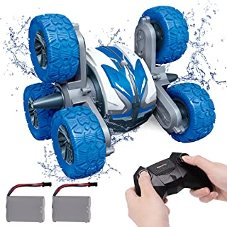REMOKING Waterproof RC Stunt Car for Kids,2.4Ghz Amphibious All Terrain 6WD High Speed Remote Control Car, Double Sided 36...