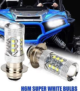 H6M LED Headlight Bulb for Yamaha YFM250 350 450 660 700 Rhino Raptor Banshee Headlamp Blubs