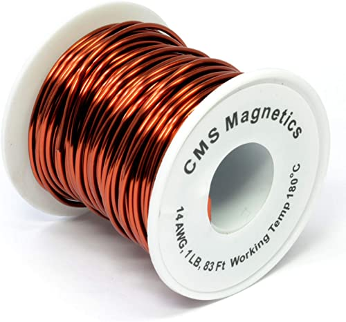 14 Gauge Magnet Wire | 14 AWG Enameled Copper Wire as Speaker Coil, Power Tools, Electronics Winding Wire| One Pound ...
