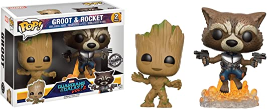Set Figuras Pop! Vinyl Mavel Guardians of The Galaxy 2 Young Groot & Rocket Raccoon