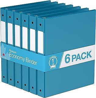 Premium Economy, Round Ring, Binder, 6 Pack (1