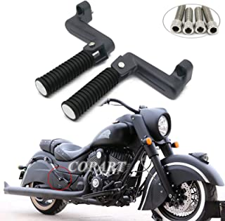 COPART Motorcycle Folding Rear Passenger Footpeg Footrest for Indian Chief Vintage 14-18 Chief Dark Horse 16-18