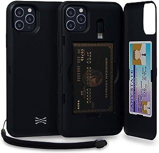 TORU CX PRO iPhone 11 Pro Max Wallet Case Black with Hidden Credit Card Holder ID Slot Hard Cover, Strap, Mirror & Lightni...