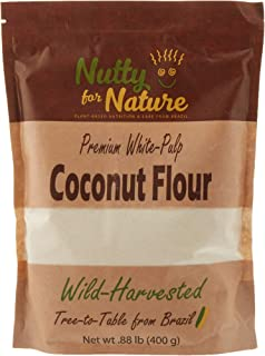 Nutty for Nature White Pulp Coconut Flour From Brazil – Raw, Gluten Free and Paleo, 400 Grams