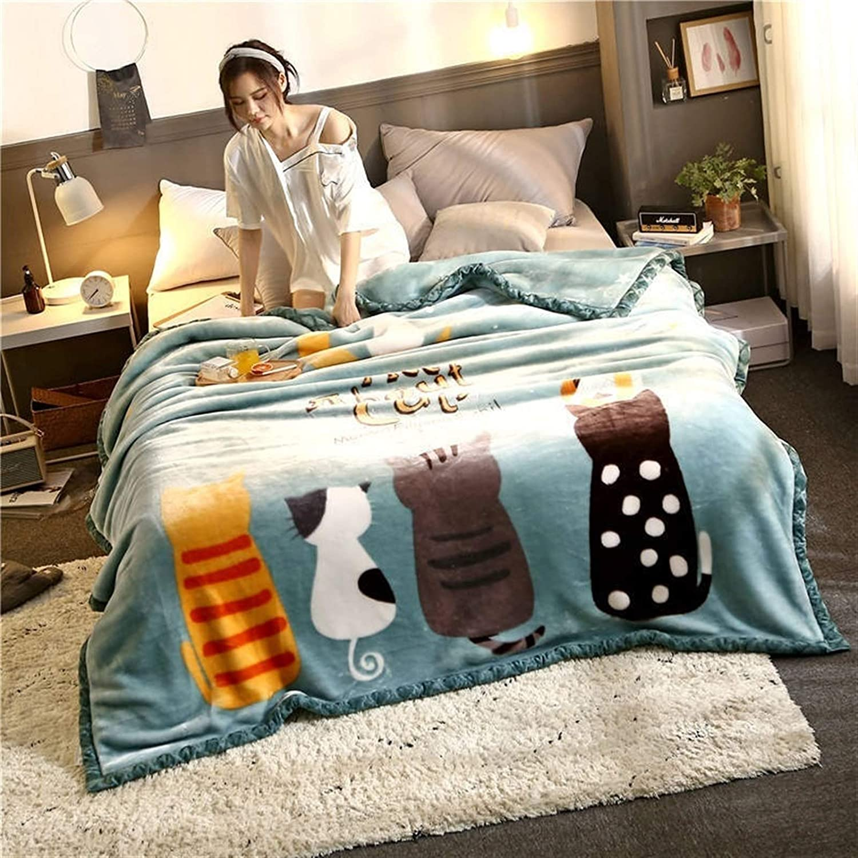 YXYH Cartoon Blankets Double Large discharge sale latest Layer Throw Fleece Warm Soft Winter