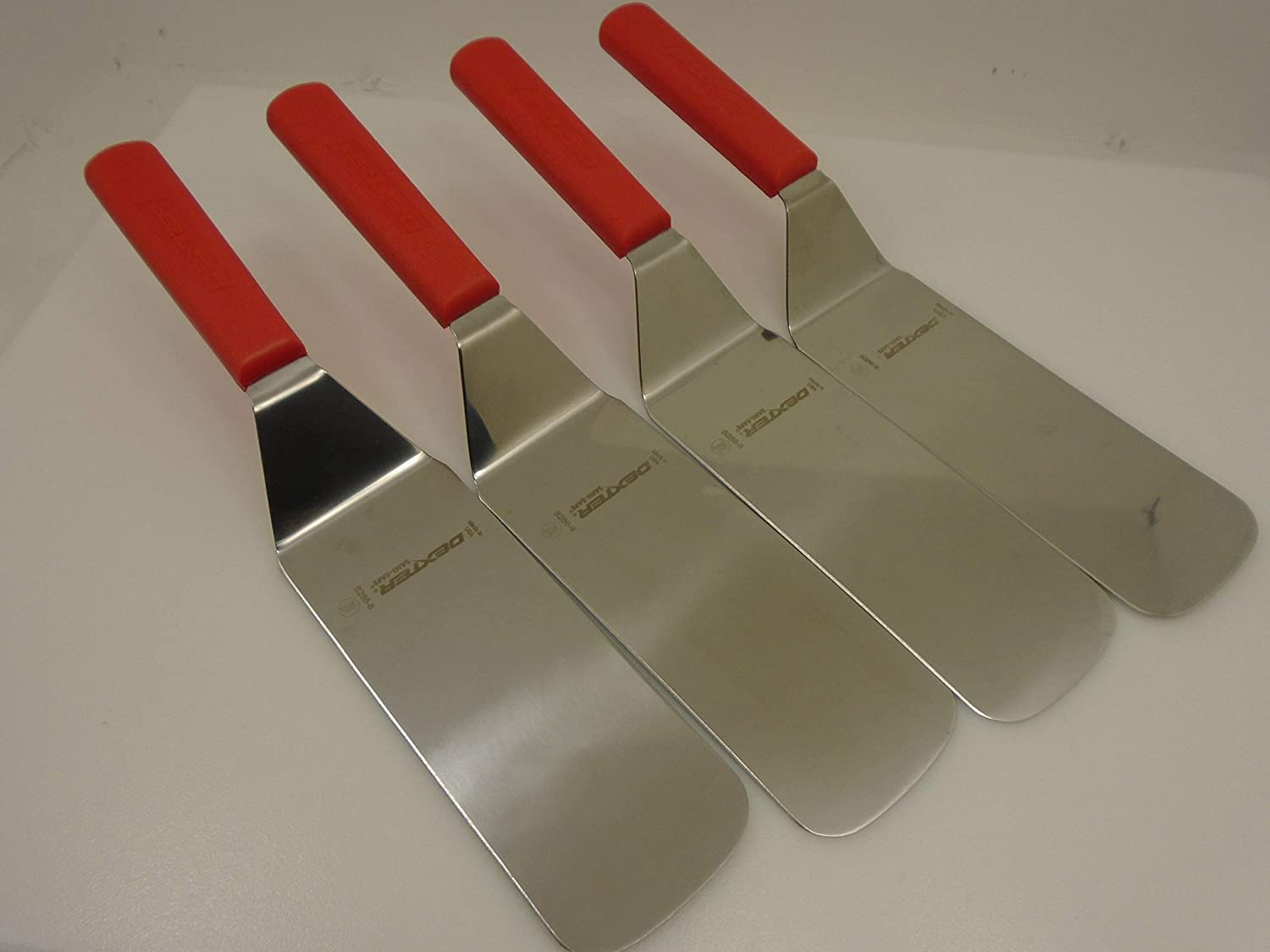 Dexter USA Lot of 4 Red Spatulas Handles 8x3 S286-8 Bombing Al sold out. new work Turners Bl