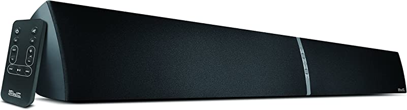 Klip Xtreme Baton Sound Bar- Compatible w/ Bluetooth with 3D Surround Sound- 2.0 Ch, 39in, Front Controls, 3.5mm and RCA Connectors Plus Remote- Wired and Wireless- Wall Mountable