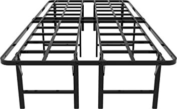 قاعدة إطار سرير ذات منصة مزدوجة 35.56 سم من زييو، كريم أساس للمرتبة ، استبدال نابض بالصندوق ، هادئة وخالية من الضوضاء