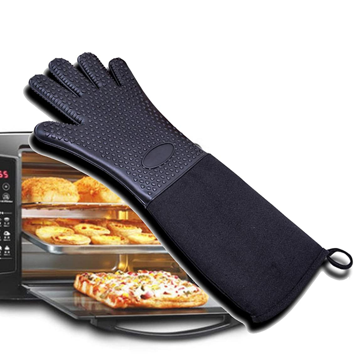 Kitchen gloves Grilling Gloves, Heat Resistant Gloves BBQ Kitchen Silicone Oven Mitts, Waterproof Non-Slip Potholder For Barbecue, Cooking, Baking Household Supplies Gloves