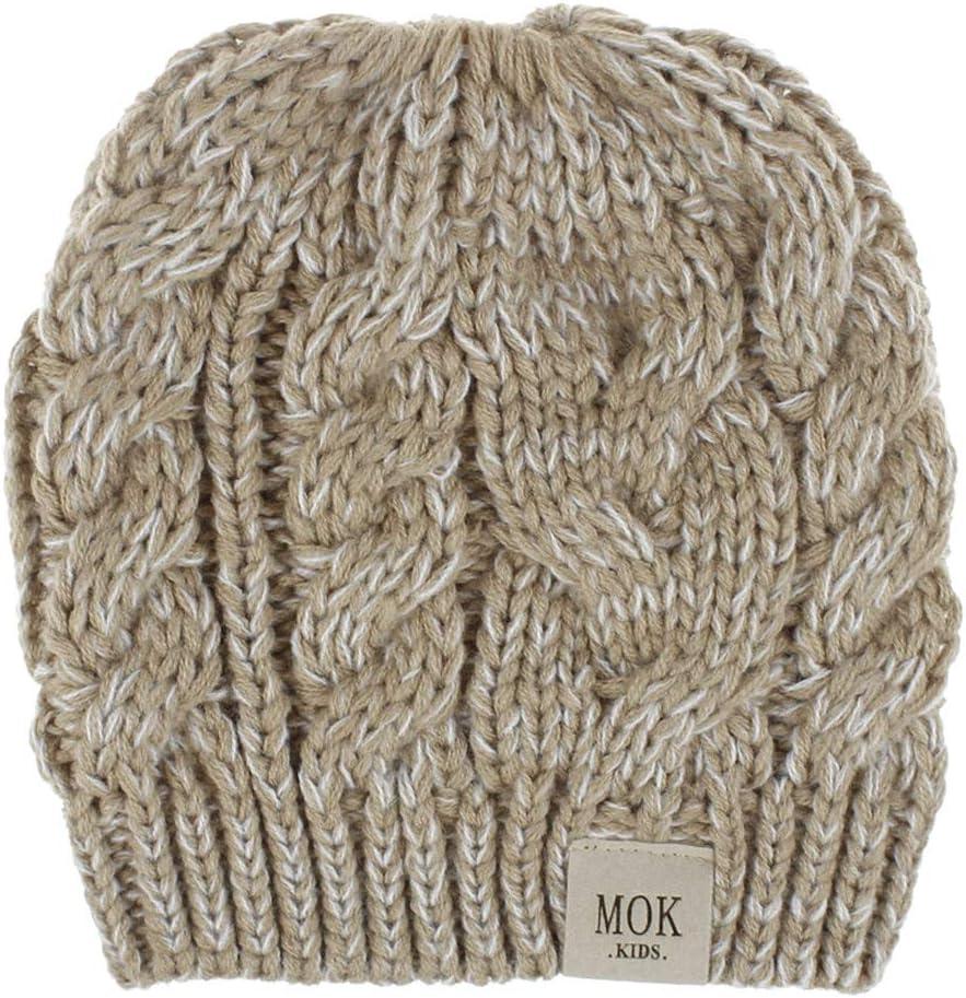 Kids Newsboy Earflap Beanie Hat Baby Boys Girls Winter Warm Knit Bobble Cap Fleece Lined Skull Ski Cap w//Visor