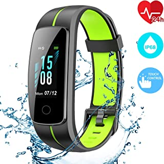 CHEREEKI Fitness Tracker, Waterproof IP68 Activity Tracker Touch Screen Smart Band with Heart Rate Monitor Sports Fitness Watch with Step Counter, Pedometer, Calorie Counter for Men Women Kids