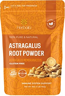 Astragalus Root Powder, 1 Pound. Astragalus Powder, Supports Immune Vitality, Astragalus Root Extract Powder in Resealable...