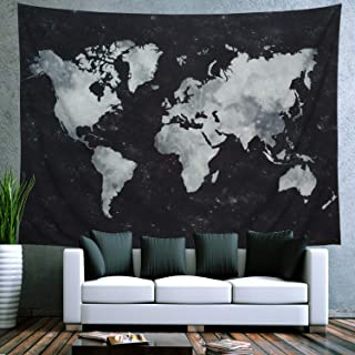 Ameyahud Starry Tapestry World Map Tapestry Apartment Essentials Black and White Tapestry Globe Constellation Galaxy Tapestry for Guys Dorm Posters