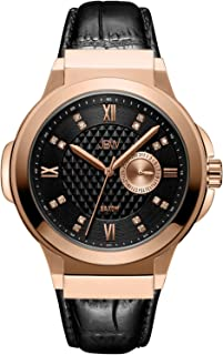 JBW Mens Quartz Watch, Analog Display and Leather Strap J6373E
