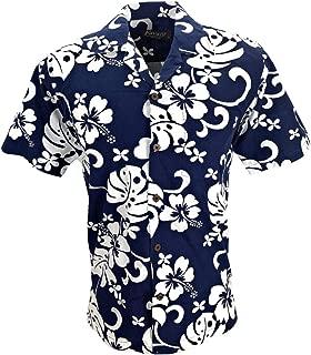Tropical Luau Beach Hibiscus All Over Floral Print Men's Hawaiian Aloha Shirt