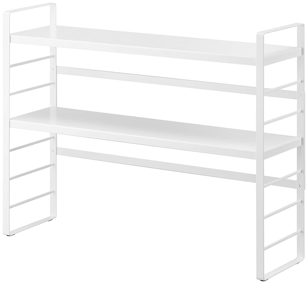 ジョージスティーブンソン浮浪者ハッピー山崎実業 シンク上キッチン収納ラック ホワイト 約W58×D16×H43.5cm プレート キッチン収納 3490