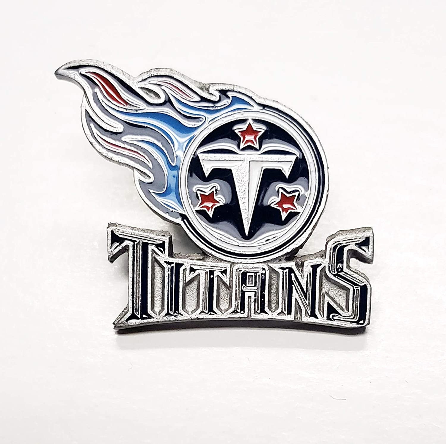 Titans Glossy Metal Hat Sale Year-end gift price Lapel Pin Team Logo Football