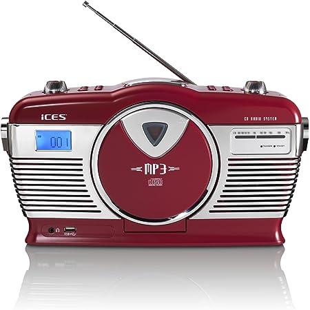 Lenco Scd 12 Retro Cd Radio Nostalgie Radio Ukw Radio Cd Player Repeat Funktion Teleskopantenne Aux Eingang Schwarz Heimkino Tv Video