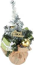 KESYOO Tabletop Christmas Tree 22cm Mini Xmas Tree with Linen Base Christmas Desktop Ornament for Holiday Seasonal Party H...
