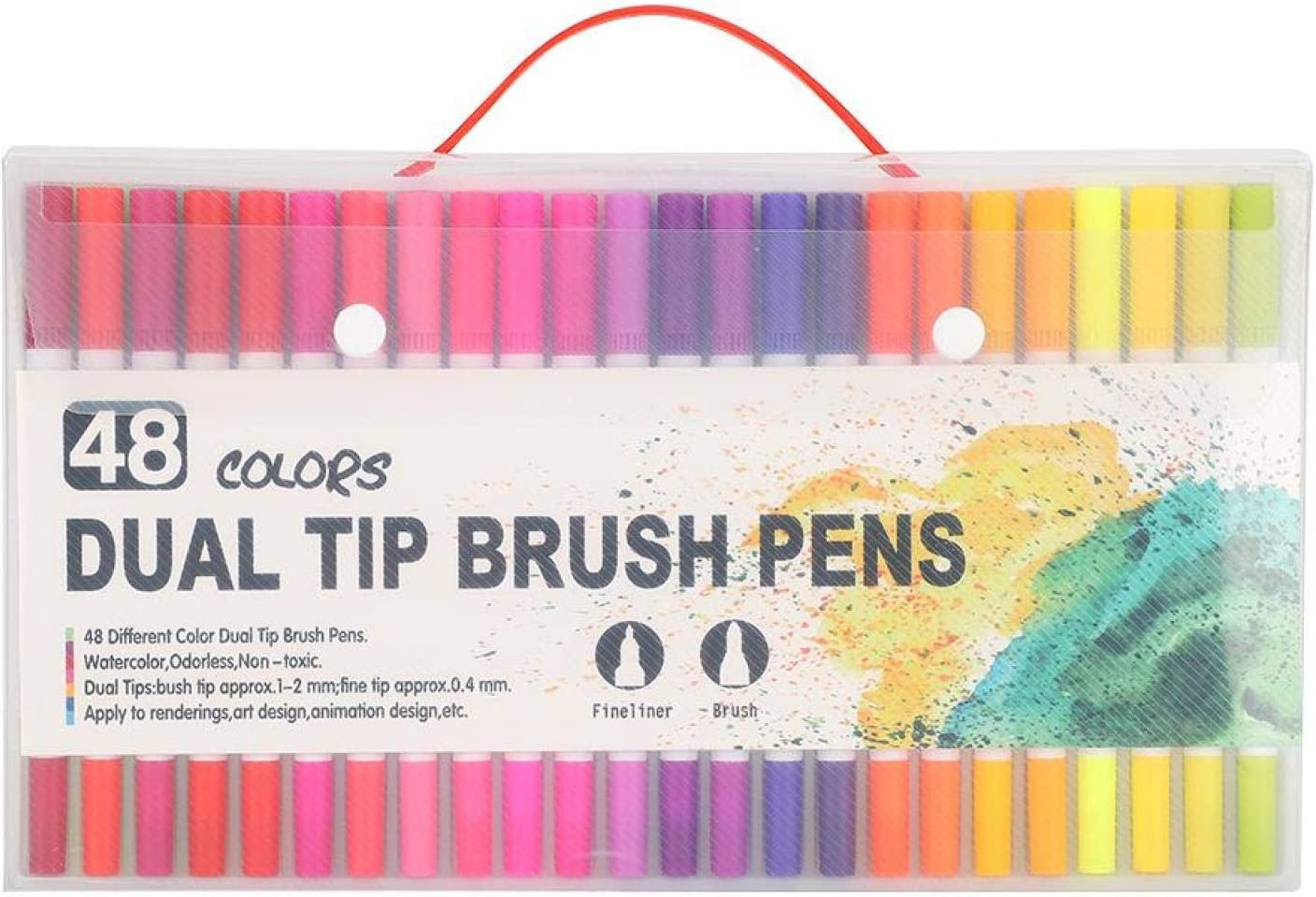 Brush Pens 48Pcs Dual Multicolor Online limited product Students Financial sales sale Tip Adults
