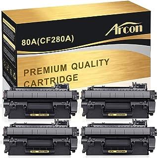 Arcon Compatible Toner Cartridge Replacement for HP 80A CF280A 05A CE505A HP Laserjet Pro 400 M401n M401dn M401dw M401dne MFP M425dn M401a M401d P2055DN P2035 P2035N P2055D HP Laserjet Pro 400-4 Packs