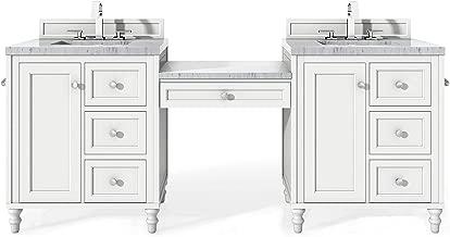 86 in. Double Vanity Set in Bright White