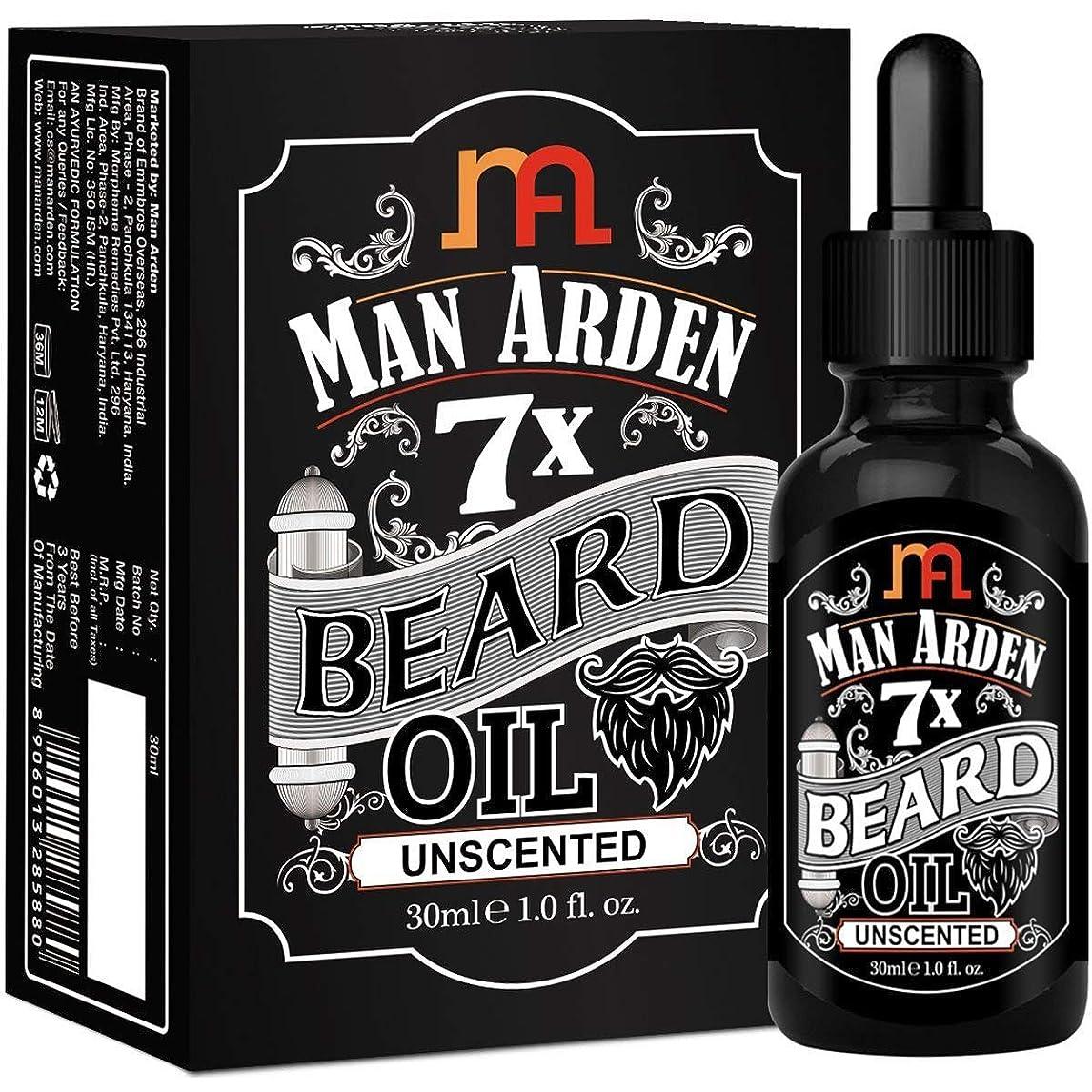 いっぱいイデオロギー懐疑的Man Arden 7X Beard Oil 30ml (Unscented) - 7 Premium Oils Blend For Beard Growth & Nourishment