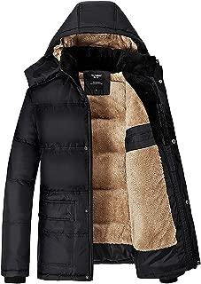 Forpend 冬メンズ アウトドアウェア 防寒コート ウトドア ダウン風 コート 冬 ジャケットフード付 -XXL