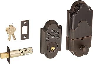 Baldwin 8252.AC1 Boulder Keyless Entry Single Cylinder Electronic Deadbolt, Venetian Bronze