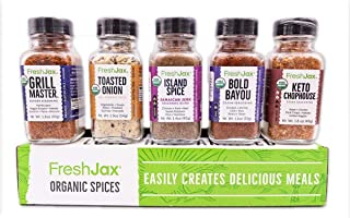 Sponsored Ad - FreshJax Gourmet Spices and Seasonings, Perfect Keto Organic Grilling Set (5 pack)…