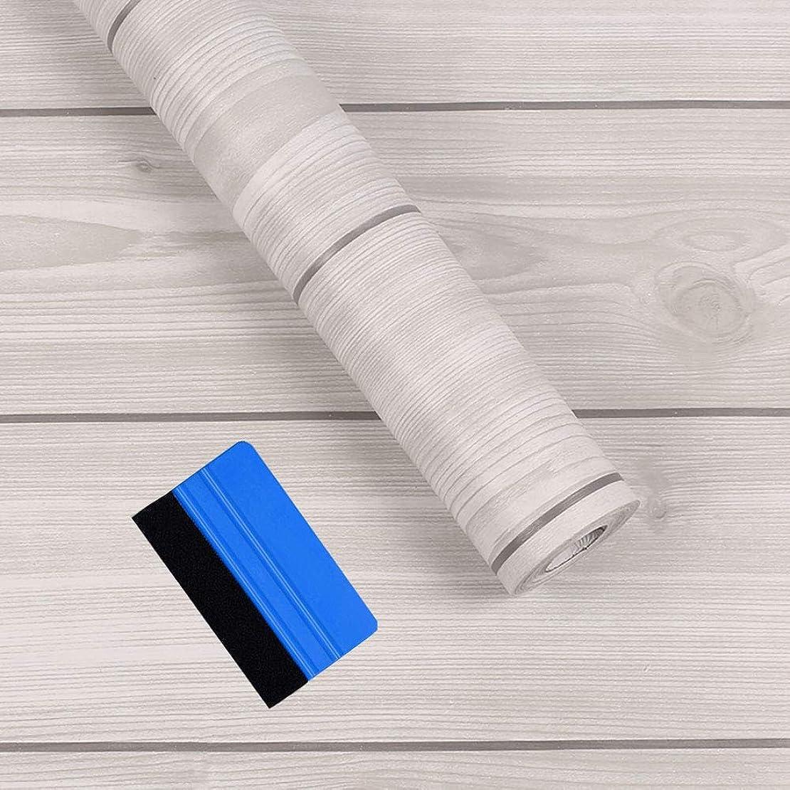 インストラクターラリーベルモント敬の念壁紙 リメイクシート harmn home 木目調 カッティングシート ふすま紙 はがせる壁紙 壁紙シール ライトグレー フェルトスキーじー付き 45cm X 10m 90日保証