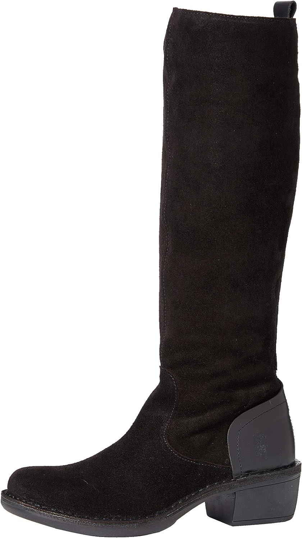 FLY London P211031004 Mujer Botas a altura Product de la Outlet SALE Black rodilla