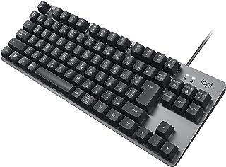 ロジクール K835GPR 有線 メカニカルキーボード 赤軸 リニア テンキーレス コンパクト メカニカル キーボード 有線 有線キーボード グラファイト windows surface K835 国内正規品 2年間無償保証