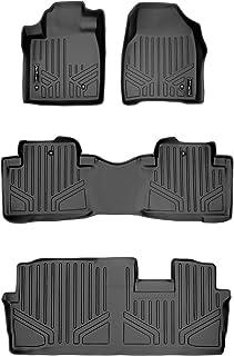 MAX LINER A0036/B0036/C0036 Floor Mats 3 Row Liner Set Black for 2009-2015 Honda Pilot