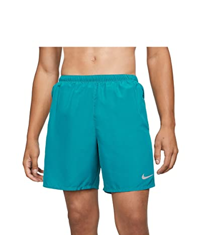 Nike Dri-FIT Challenger Shorts 7 Brief (Blustery/Reflective Silver) Men
