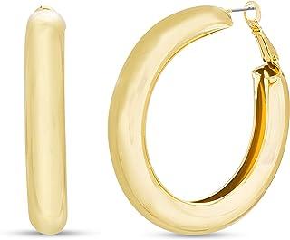 Tubular Hoop Earrings for Women