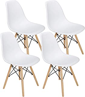 ZENY Set of 4 Modern Style Dining Chair, Shell Lounge...