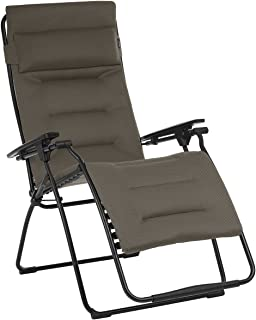 Lafuma LFM3123-7057 Futura XL Air Comfort Zero Gravity Recliner-Black Frame, Taupe Fabric