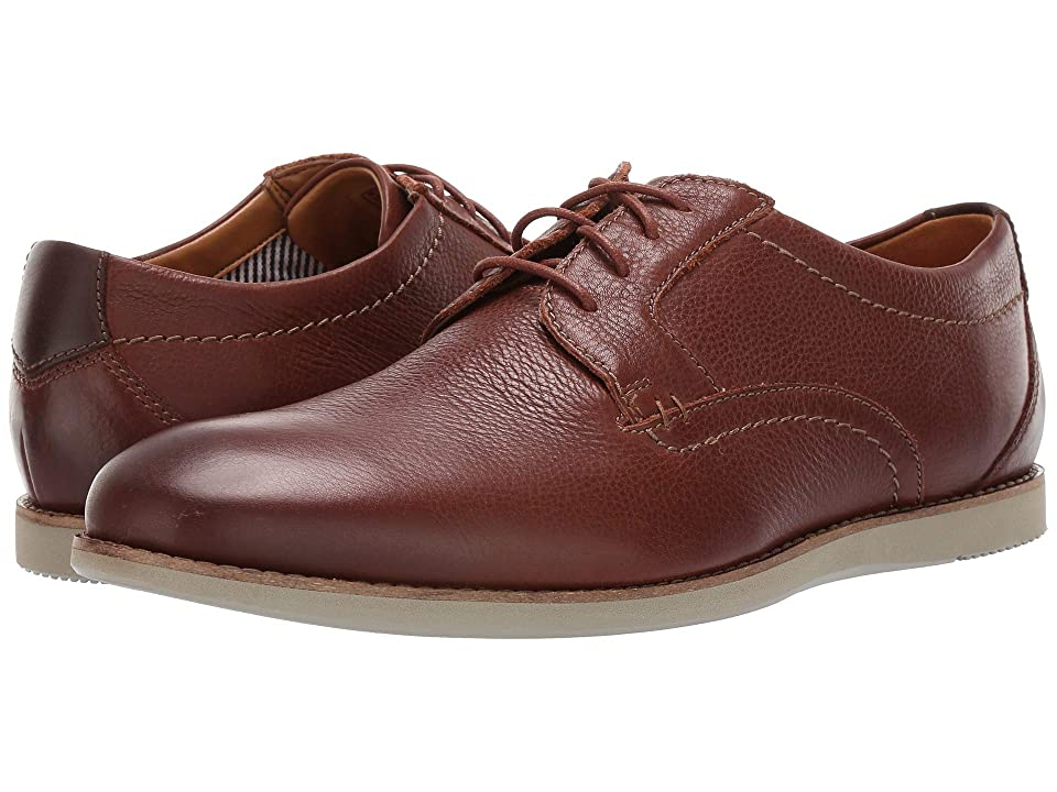 Clarks Raharto Plain (Brown Tumbled Leather) Men