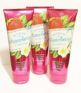 Bath & Body Works Bourbon Strawberry & Vanilla Ultra Shea Body Cream - Lot of 3