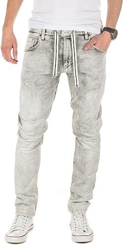 Yazubi Homme Jean Jogging Steve - Jogging Pantalon - Sweatpants in Jeans-Look