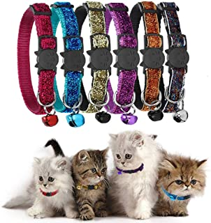 GingerUP Juego de 6 Collares para Gatos de Seguridad con