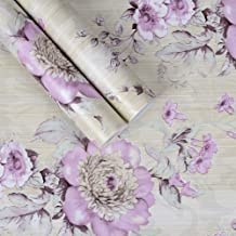 Taogift - Papel Pintado Decorativo Autoadhesivo de Vinilo para Muebles Florales Vintage, para estantes de Cocina, estantes...