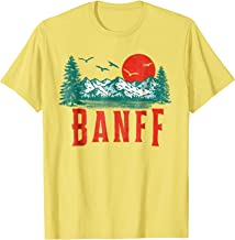 Vintage Banff National Park Mountains Scene T-Shirt