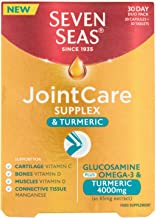 Seven Seas JointCare Supplex and Turmeric with Glucosamine and Omega 3,…