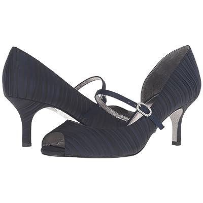 Adrianna Papell Janet (Ink (Navy) Strata Satin) High Heels