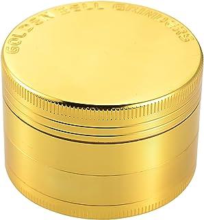 "Golden Bell 4 Piece 2"" Spice Herb Grinder – Gold"